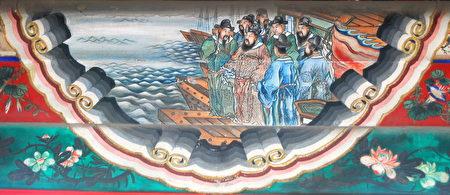 頤和園長廊彩繪三國故事「曹操賦詩」。(Shizhao/Wikimedia Commons)