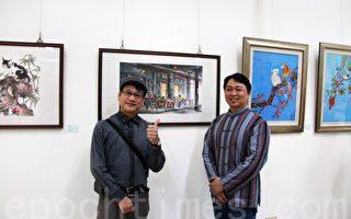 南投艺术爱好者 游艺偶得绘出喜悦