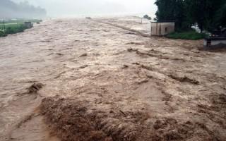 大陸長江、嫩江、松花江流域於1998年曾發生特大洪水災害(網絡圖片)