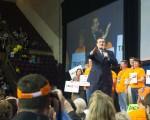 科鲁兹9日出席科罗拉多州共和党大会,并发表演说。科鲁兹应已稳拿科罗拉多州的37张党代表票。(JASON CONNOLLY/AFP/Getty Images)