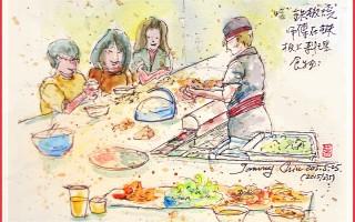 彩绘生活(269)吃铁板烧