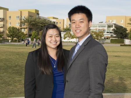 图:圣地亚哥华裔律师王伟展(Thomas Wang)和王庭祤(Ariel Chiu)兄妹双双出道刑事辩护律师。(杨婕/大纪元)