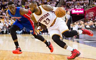 NBA季后赛首轮 三巨头81分 骑士擒活塞