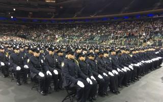 纽约市警察学校634名毕业生加入警界