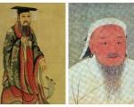 成湯和成吉思汗的畫像(大紀元合成圖)