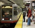 舊金山公交地鐵的站臺。(大紀元資料圖片)