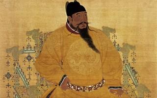 明成祖朱棣着衮龙袍像。(公有领域)