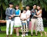 華劇《我的極品男友》舉行記者會,林逸欣(左起)與黃騰浩、連俞涵與林佑威、簡宏霖與林可彤三對主演均出席活動。(三立提供)