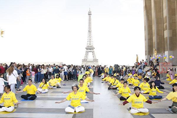 巴黎 铁塔 5.13法轮大法日