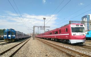 红色京急电铁在台湾 台铁阿福号变身