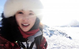 林志玲隨「花樣團」到達南極。(《花樣姐姐》微博)
