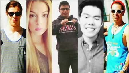 派对凶杀案的五名被害人。(大纪元资料图片)