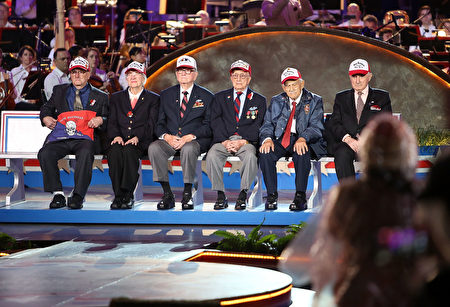 WASHINGTON, DC - MAY 29: Anzio Vets are recognized at the 27th National Memorial Day Concert on May 29, 2016 in Washington, DC. (Photo by Paul Morigi/Getty Images for Capitol Concerts)