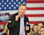 知情人士向美国媒体透露,卡西奇将退出竞选。图为3月23日,卡西奇在威斯康辛州竞选集会中发言。(Scott Olson/Getty Images)