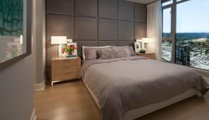 高贵林市中心最高居民楼MThree,这是其卧房。(Cessay开发商提供)