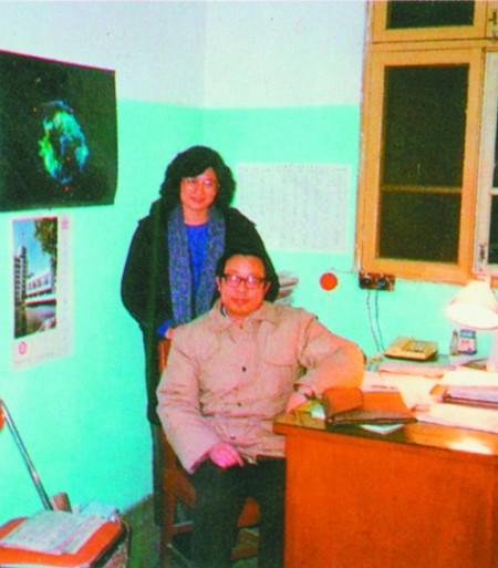 1986年12月29日「八六」學潮期間,記者曾慧燕在安徽合肥中國科技大學校長辦公室獨家訪問方勵之,第二天,他就失去自由。(溫元凱攝影/資料照片)