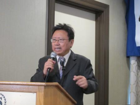 陈破空在六四27周年纽约纪念大会上发言。(林丹/大纪元)