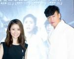 何潤東與林心如首度公開亮相,在上海為合演的新片宣傳。(達騰提供)