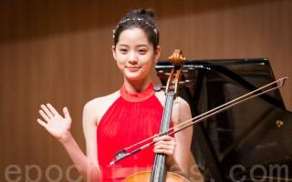 藝人歐陽娜娜6月15日出席生日音樂會巡演台北站總彩排記者會。(陳柏州/大紀元)