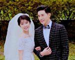 華劇《1989一念間》以復古穿越為故事題材受歡迎,圖為張立昂與邵雨薇拍攝婚紗照的劇情。(三立、東森提供)