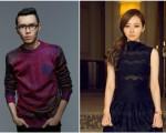 方大同(左)第二波爱恋单曲《无所谓》,邀请到唱将张靓颖一起合唱。(阔思音乐提供)