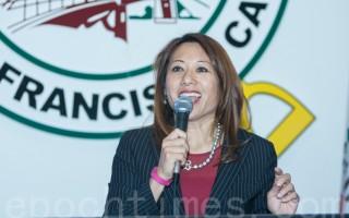 马世云宣布参选加州财务长 贺锦丽到场背书