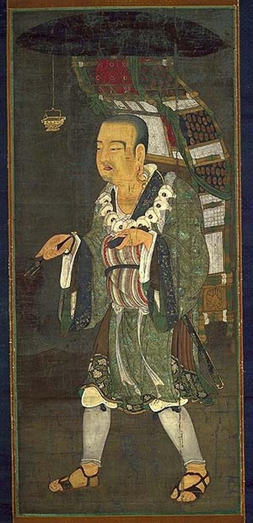 宋代《玄奘負笈圖》,現藏東京國立博物館。(公有領域)
