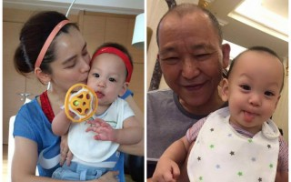 徐若瑄爱子与姥爷合照 发线都一样获赞基因强