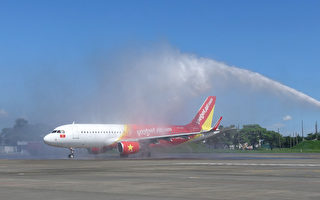 台南胡志明航線 賴清德親接首航機