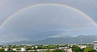 台東天空出現雙彩虹 民眾驚喜