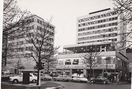 60年代的國王大道和博門錶店 (德國博門錶店提供)