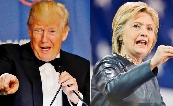 美國共和黨參選人特朗普(圖左)與民主黨參選人希拉莉(圖右)11月大選對決幾成定局。外界關注,兩人在對華問題上的強硬主張,在其當選後是否將付諸實施,並對中國帶來怎樣的影響。(Getty Images/大紀元合成)