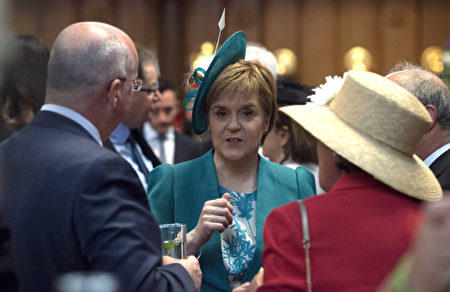 LONDON, ENGLAND - JUNE 10: First Minister Nicola Sturgeon during a reception at the Guildhall following the National Service of Thanksgiving for Queen Elizabeth II's 90th birthday at St Paul's Cathedral on June 10, 2016 in London, United Kingdom. (Photo by Hannah McKay - WPA Pool/Getty Images)