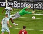 2016年6月26日,歐洲盃八強賽第六場比利時對匈牙利,以4:0晉級八強。(PASCAL PAVANI/AFP/Getty Images)
