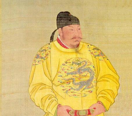 唐太宗畫像,絹本設色,北京故宮南薰殿舊藏,現藏台北故宮博物院。(公有領域)