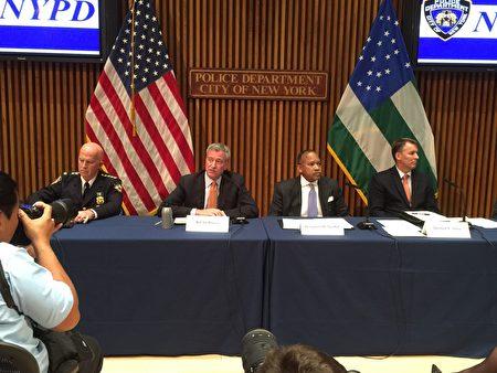 市长和警察局公布纽约市5月份犯罪统计数字。