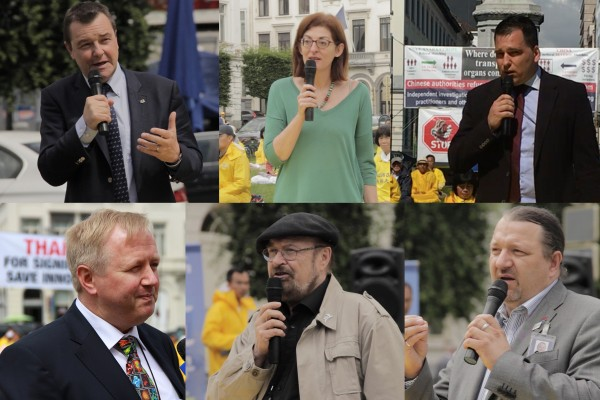 欧议会将声明反活摘 6议员参加法轮功集会
