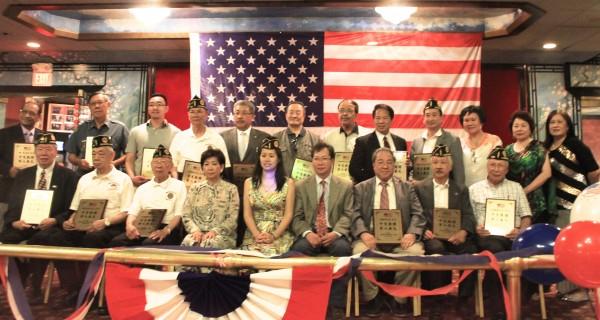 國慶日 表彰華裔退伍軍人