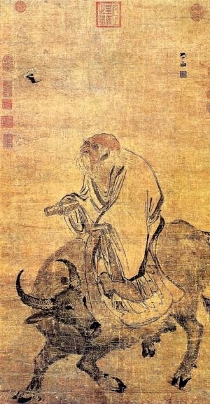 明張路〈老子騎牛圖〉,台北故宮博物院藏。(公有領域)