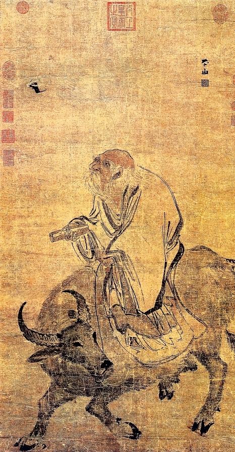 明張路《老子騎牛圖》,台北故宮博物院藏。(公有領域)