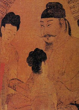 閻立本〈步輦圖〉中的唐太宗。(公有領域)