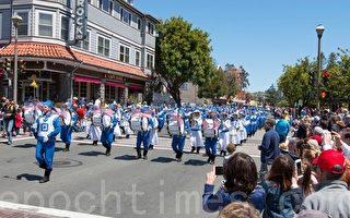 组图:加州马林县独立日游行 天国乐团获赞誉