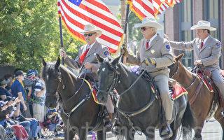 组图:加州红木城庆祝独立日游行
