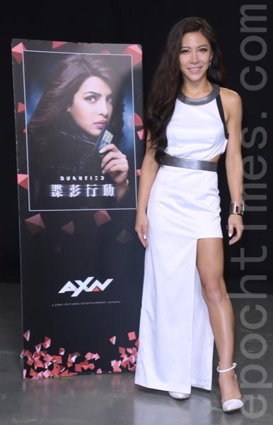 艾怡良拍攝AXN《諜影行動》宣傳影片