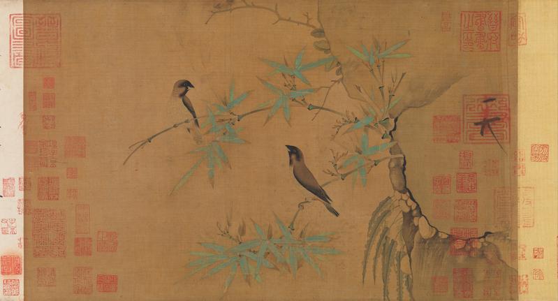 [北宋] 赵佶(徽宗),《竹禽图》卷,纽约大都会艺术博物馆藏。(公有领域)