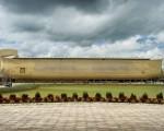這艘名為「遇見方舟」(Ark Encounter)是地球上最大的木結構船體。 (Ken Ham臉書)