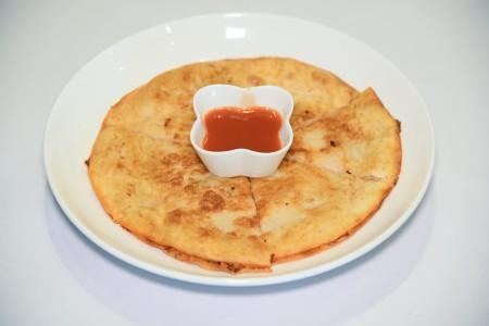 月亮蝦餅。(石嵐/大紀元)