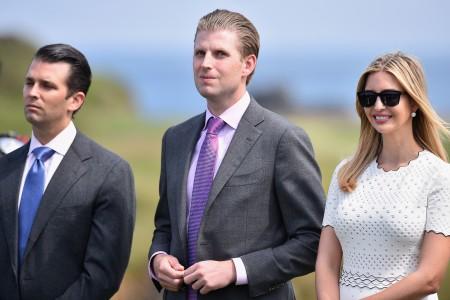 自左而右:小唐纳、埃里克、伊万卡。(Jeff J Mitchell/Getty Images)