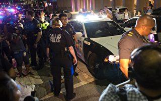 狙击手枪击达拉斯警察 5人死 1枪手被炸死