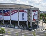 美國俄亥俄州克利夫蘭的共和黨2016 全國代表大會的外場佈置。( Angelo Merendino/Getty Images)